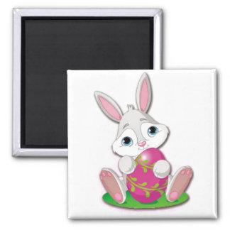 Bunny Joy Square Magnet