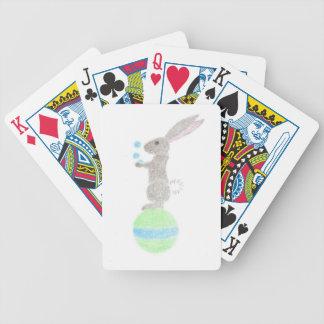 Bunny Juggler Bicycle Playing Cards