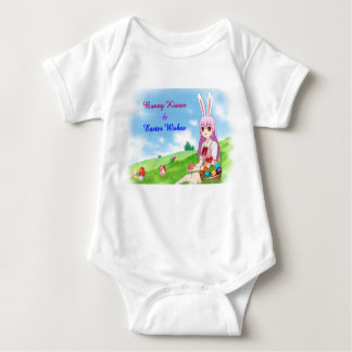 Bunny Kisses & Easter Wishes (Customizable) Baby Bodysuit