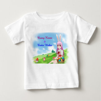 Bunny Kisses & Easter Wishes (Customizable) Baby T-Shirt