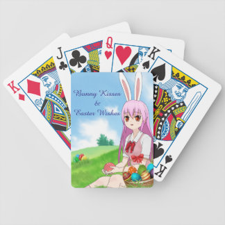 Bunny Kisses & Easter Wishes (Customizable) Bicycle Playing Cards