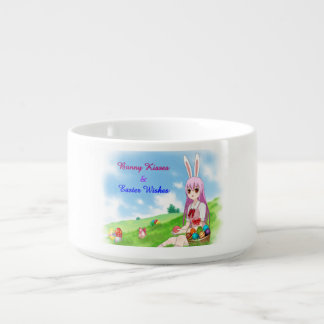 Bunny Kisses & Easter Wishes (Customizable) Chili Bowl