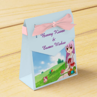 Bunny Kisses & Easter Wishes (Customizable) Favor Box