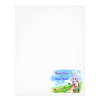 Bunny Kisses & Easter Wishes (Customizable) Letterhead