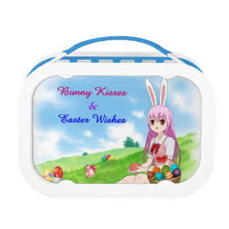 Bunny Kisses & Easter Wishes (Customizable) Lunch Box
