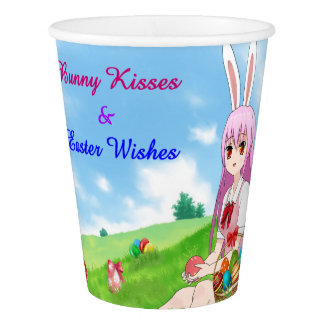 Bunny Kisses & Easter Wishes (Customizable) Paper Cup