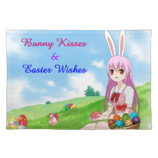 Bunny Kisses & Easter Wishes (Customizable) Placemat