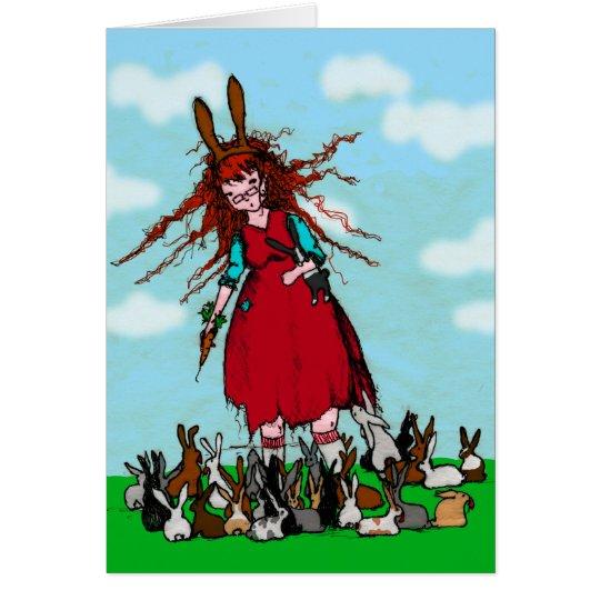 BUNNY LADY CARD
