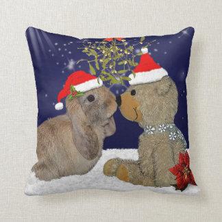 Bunny Love at Christmas Pillow