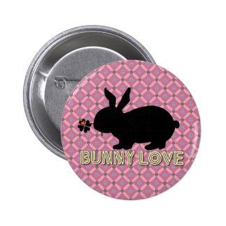 Bunny Love Botton 2 Inch Round Button