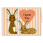 Bunny Love - Cute Rabbits Card