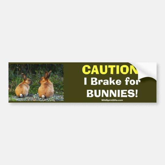 BUNNY LOVE Wild Rabbit Collection Bumper Sticker