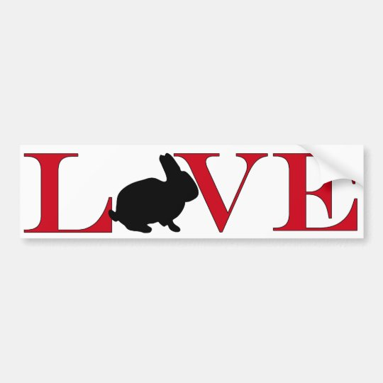 Bunny Lover Bumpersticker Bumper Sticker
