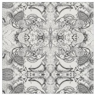 Bunny Mandala Pattern Fabric