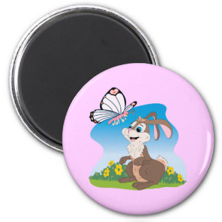 Bunny meets Butterfly Refrigerator Magnets