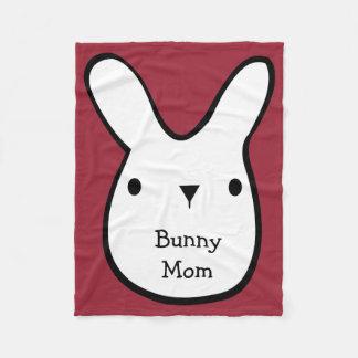 Bunny Mom (customizable) Fleece Blanket