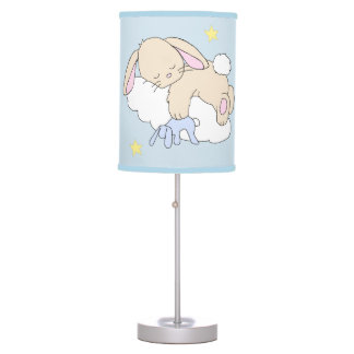 Bunny Moon Star Cloud Woodland Neutral Nursery Table Lamp
