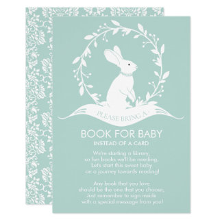 Bunny Neutral Baby Shower Book for Baby Card