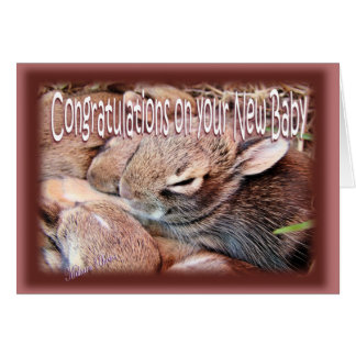 Bunny-newbaby-customize Greeting Card