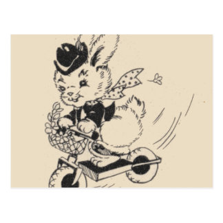 Bunny on Scooter Postcard