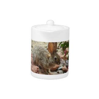 Bunny on Sedona Rock Small Tea Pot