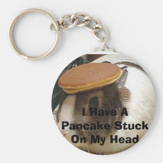 bunny_pancake, I Have A Pancake Stuck On My Head Keychain