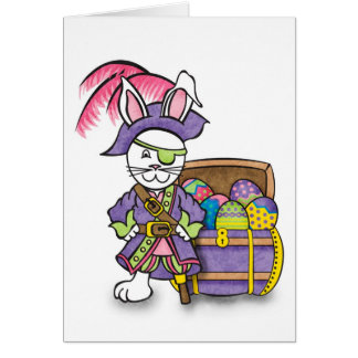Bunny Pirate Card
