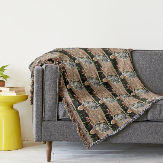 Bunny Profile Throw Blanket