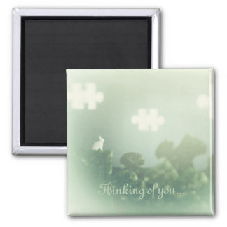 BUNNY Puzzle Land 'Thinking of You' Magnet