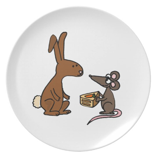 Bunny Rabbit and Mouse Plate