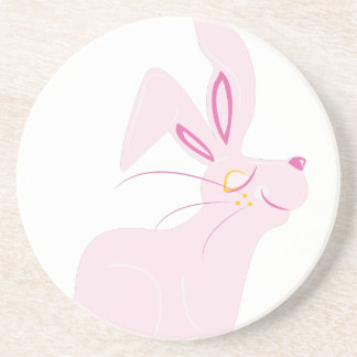 Bunny Rabbit Beverage Coasters