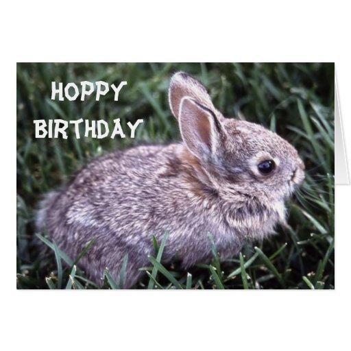 Bunny Rabbit Birthday Card