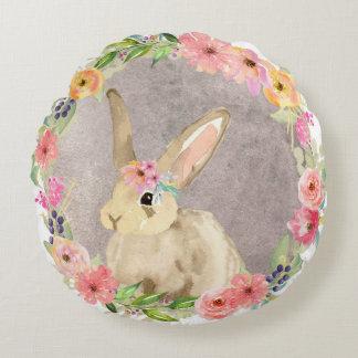 Bunny Rabbit Boho Baby Girl Nursery Pillow