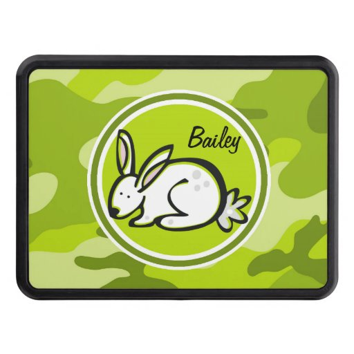 Bunny Rabbit; bright green camo, camouflage Hitch Covers