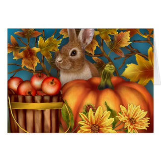 Bunny Rabbit Fall Notecard