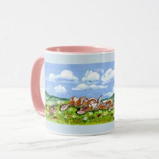 Bunny Rabbit Family Watching Clouds Designer Mug