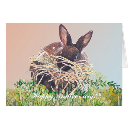 Bunny Rabbit Greeting Cards Birthday, Sympathy