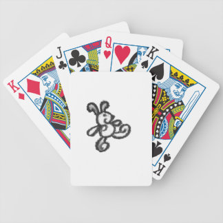 bunny, rabbit , love , baby, go , walk, bold bicycle playing cards