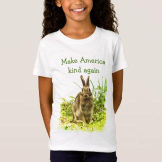 Bunny Rabbit Make America Kind Again Kids Shirt