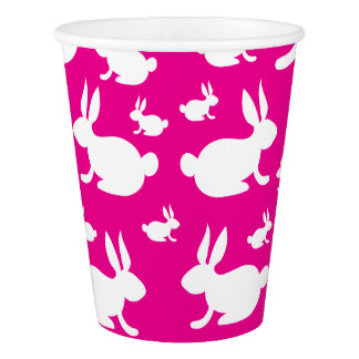 Bunny Rabbit Paper Cups Pink Paper Cup