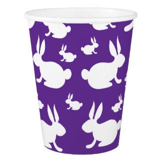 Bunny Rabbit Paper Cups Purple Paper Cup