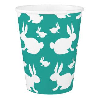 Bunny Rabbit Paper Cups Teal