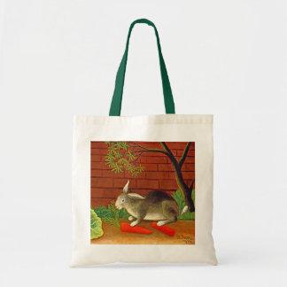 Bunny Rabbit Vintage Art Painting Tote Bag