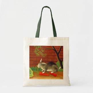 Bunny Rabbit Vintage Art Painting Budget Tote Bag
