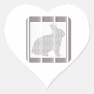 BUNNY Rabbit White Crystal Stone NVN282 animal kid Heart Sticker