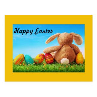 Bunny Rabbit with Five Eggs Postcard