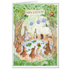 'Bunny Rabbits' Birthday Card