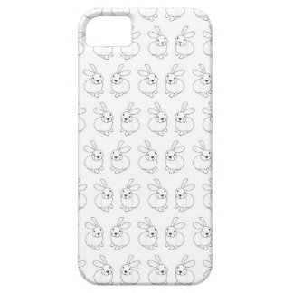 Bunny rabbits cute tatty hopping mad iPhone 5 covers