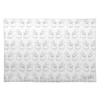 Bunny rabbits cute tatty hopping mad placemat