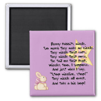 Bunny Rabbits Wiggle Magnet